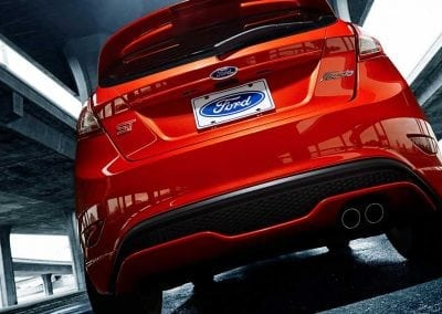 Ford Fiesta ST Sporty integrated rear spoiler