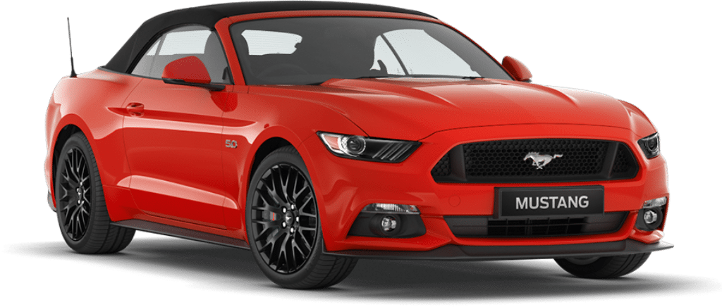 Ford Mustang Convertiable Race Red