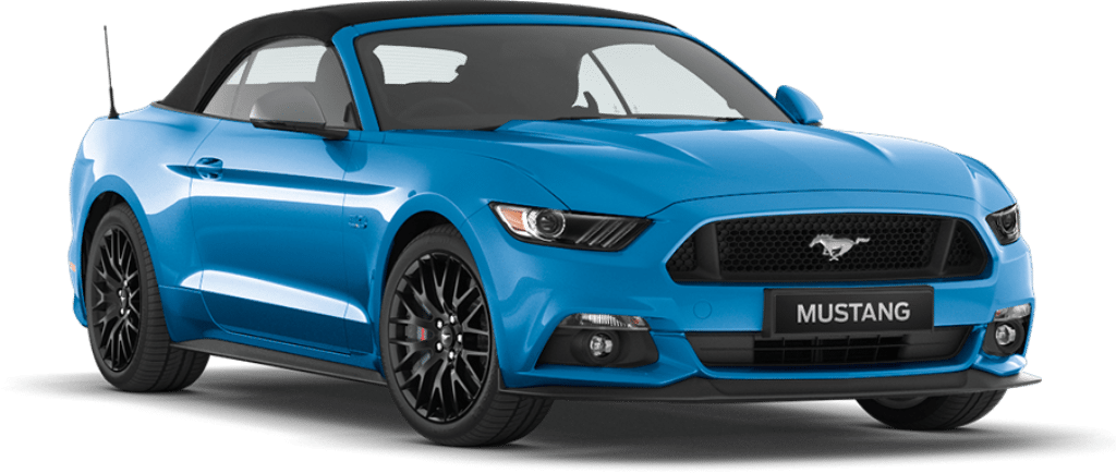 Ford Mustang Convertible Grabber Blue