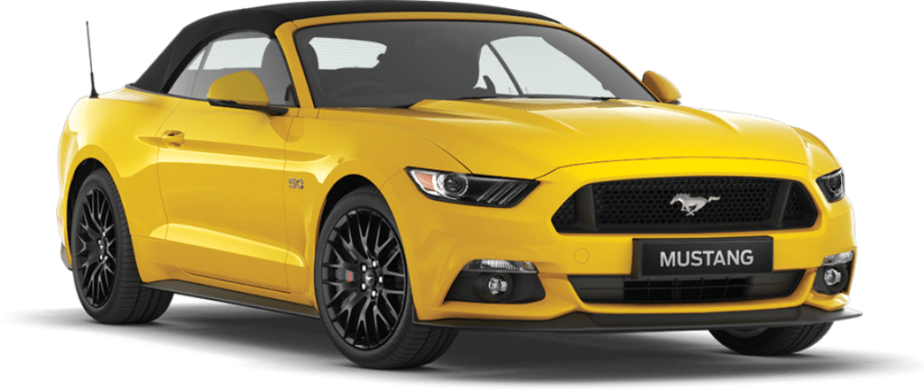 Ford Mustang Convertible Triple Yellow